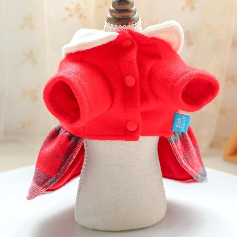 红格娃娃领呢子裙_5168