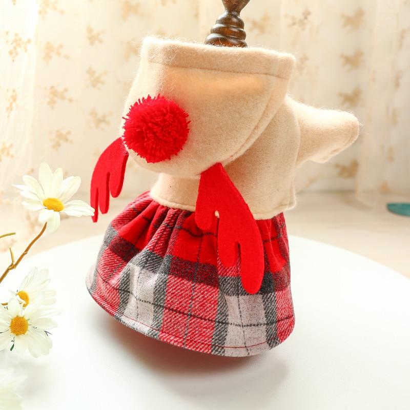 红格麋鹿裙_6367