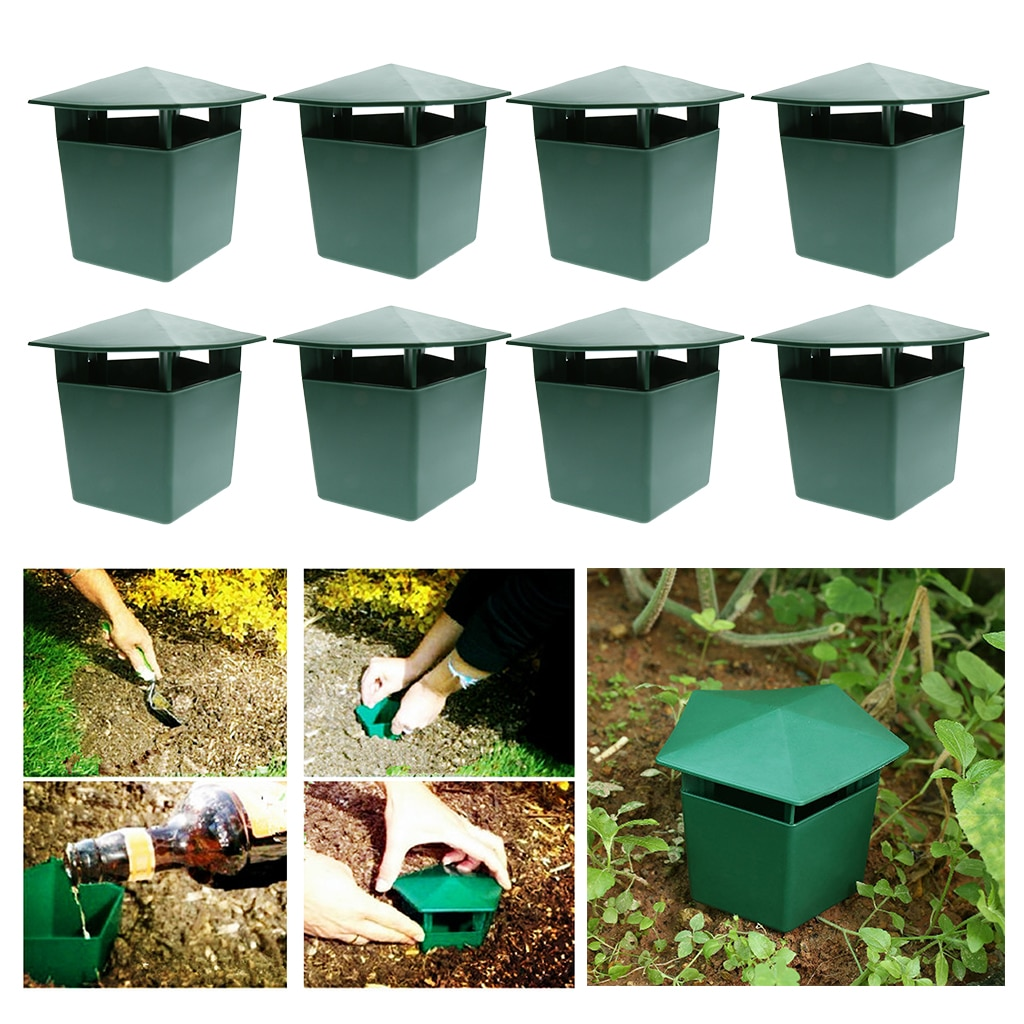 8Pcs Eco-Friendly Snail Cage House Catcher Trap Gintrap Tools Animal Trapper Control