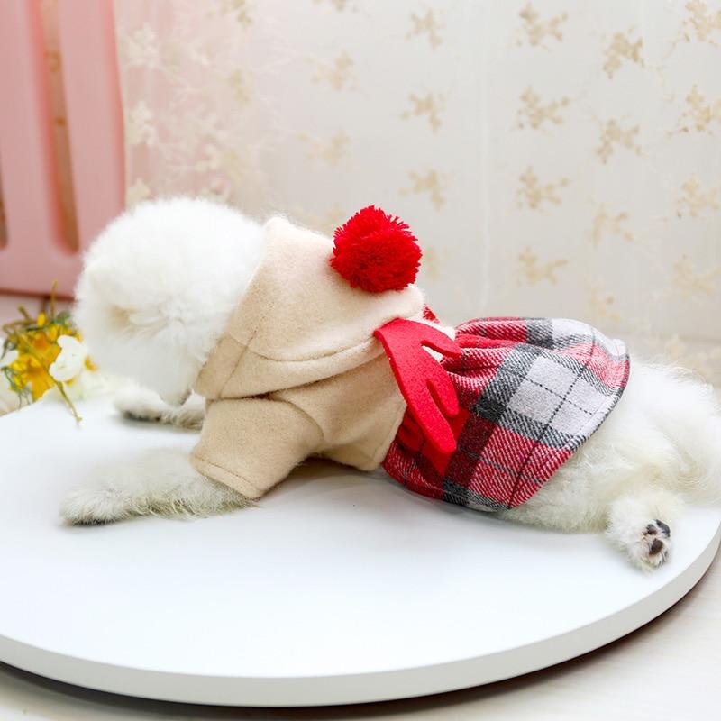 红格娃娃领呢子裙_8043