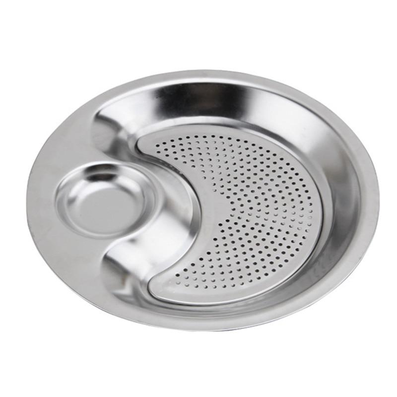 Stainless Steel Round Dumpling Dish (1)