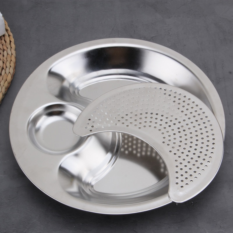 Stainless Steel Round Dumpling Dish (2)