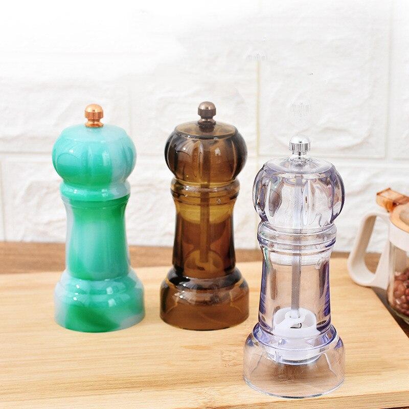Manual pepper mill plastic salt grinder kitchen accessories salt and Pepper mill kitchen tool kitchen gadgets spice grinder 01