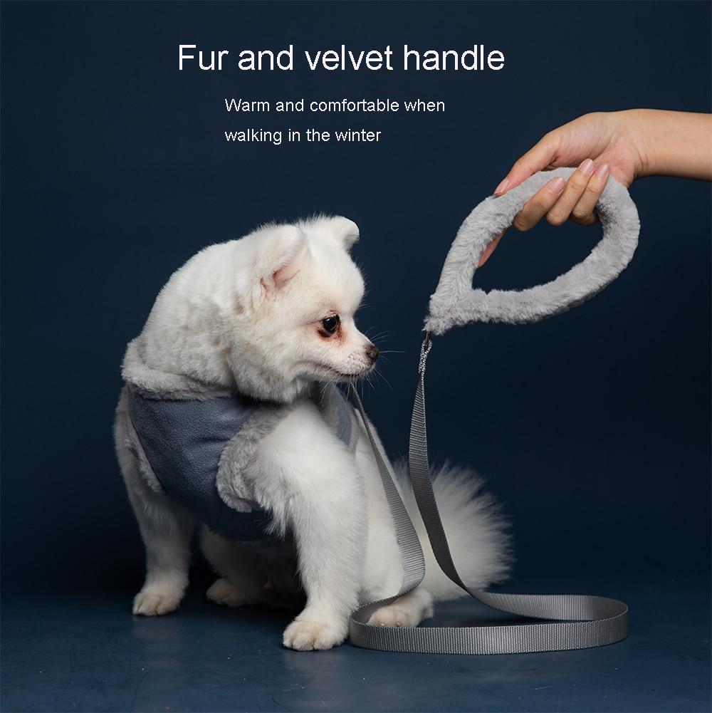 fur and velvet handle