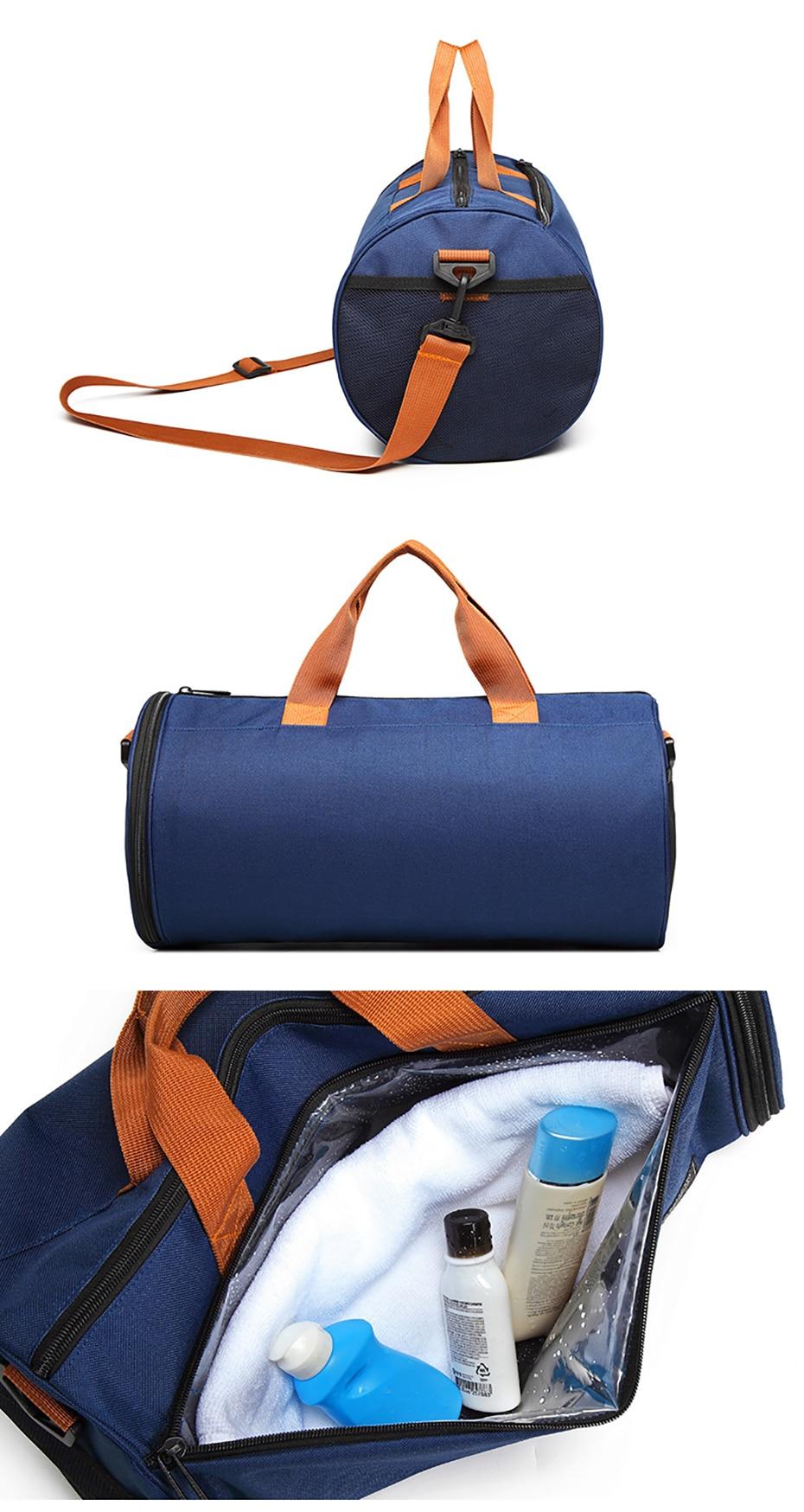 Outdoor Sports Gym Bag Multifunction Training Fitness Shoulder Bag With Shoes Pocket Travel Yoga Handbag Dry wet Swimming Bag0106
