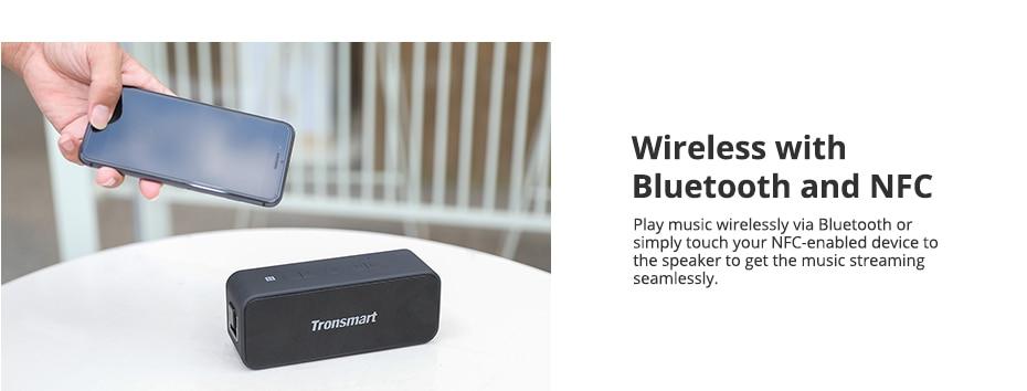 Tronsmart T2 Plus Bluetooth 5.0 Speaker 20W Portable Speaker 24H Column IPX7 Soundbar with NFC, TWS,Voice Assistant,Micro SD (6)