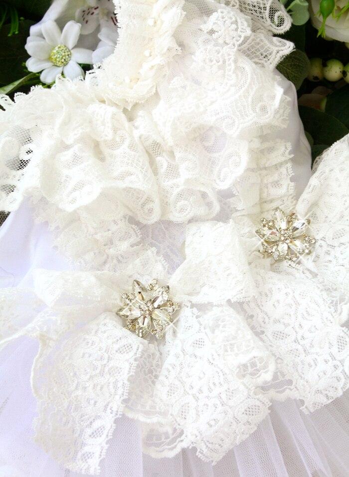 Handmade Vintage Elizabeth Retro Style Pet Wedding Dresses Cat Costume