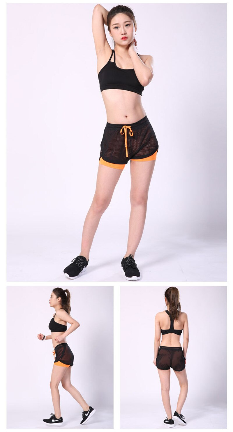 Yoga Shorts Gym Sport Shorts Running Summer Double Layer Shorts Women Skinny Fitness Shorts Women Elastic Casual Shorts Female JOMOBabe Official Online Store | Best Women's Workout Clothes, Gym Wear & Activewear | JOMOBabe