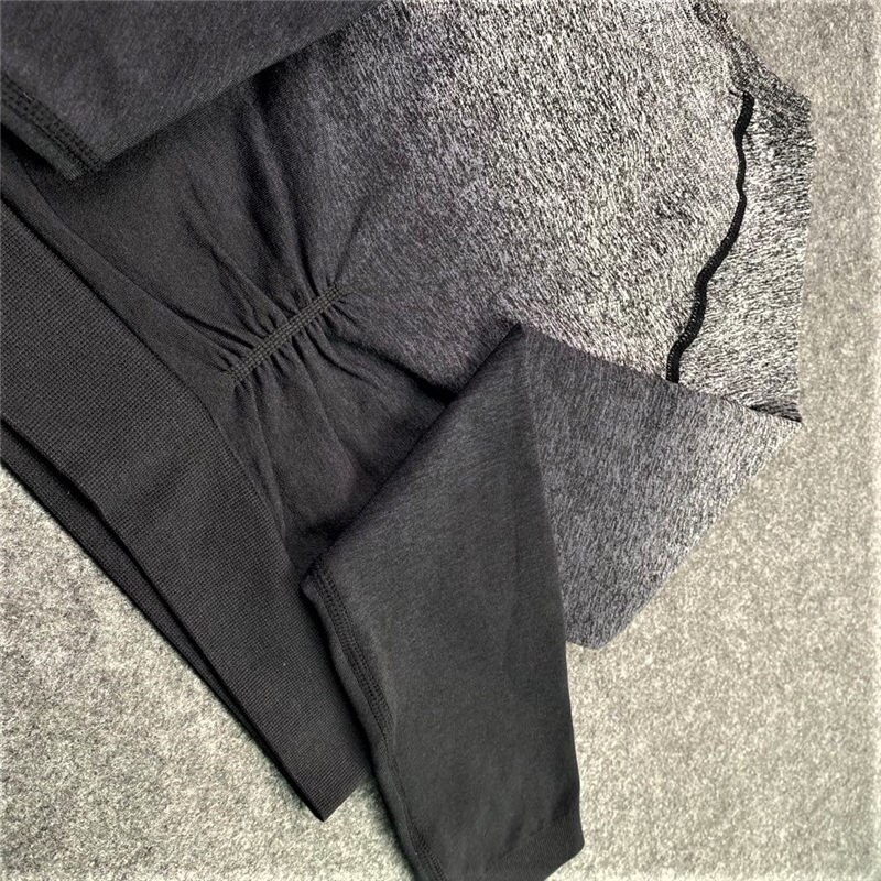 Shop women's Ombre Workout Sets 2 Piece Yoga Set Seamless High Waisted Leggings with Long Sleeve Crop Top Tracksuit Sets JOMOBabe Online Store | Women Workout Clothes & Gym Gear | JOMOBabe