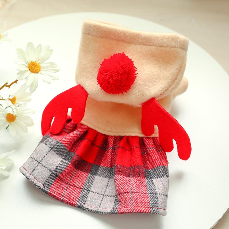 红格麋鹿裙_6353