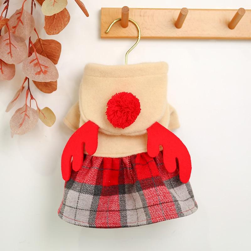 红格麋鹿裙_6457