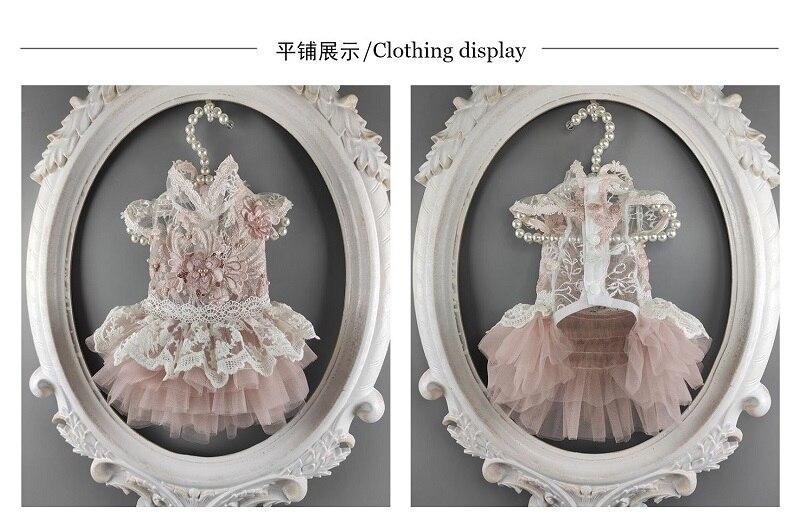 Pet Dress Peachy Beige Flora Stand Collar Cutwork Lace Pearl Cat Costume