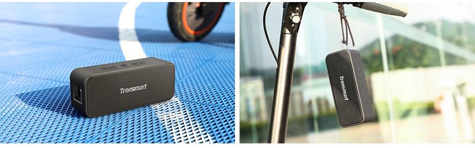 Tronsmart T2 Plus Bluetooth 5.0 Speaker 20W Portable Speaker 24H Column IPX7 Soundbar with NFC, TWS,Voice Assistant,Micro SD (26)