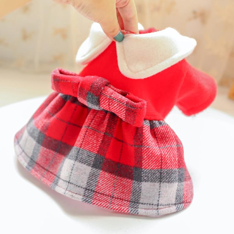 红格娃娃领呢子裙_5170