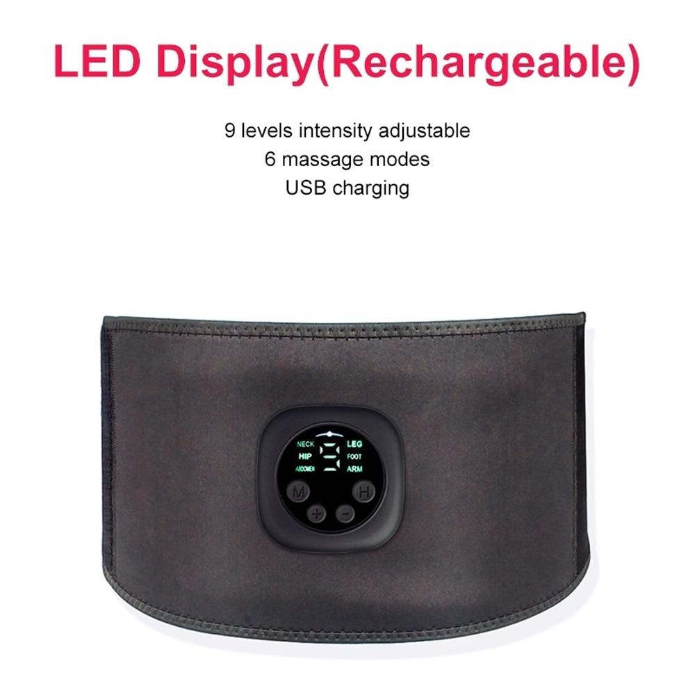 Intelligent EMS Fitness Trainer Belt LED Display Electrical