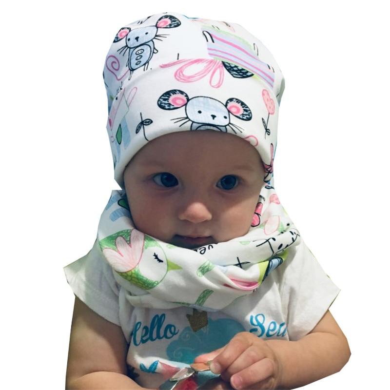 Baby Hat Set Boys Girls Neck Scarf collar