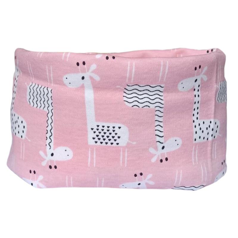 Pink giraffe scarf