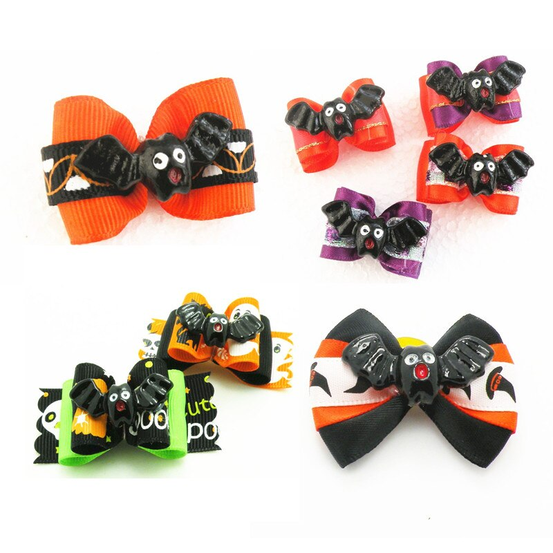 100PC-Lot-Halloween-Dog-Accessories-Bat-Design-Cat-Dog-Hair-Bows-Dog-Grooming-Bows-Holiday-Pet