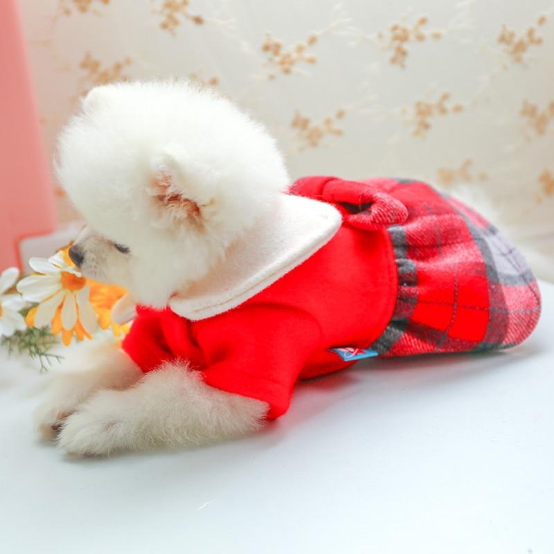 娃娃领呢子裙_7725