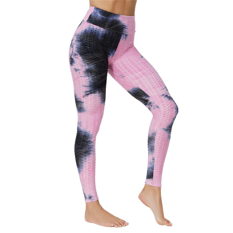 High Waist Leggings Yoga Pants Workout Tummy Control 4-Way Stretch Tie Dye Pants JOMOBabe Online Store   Women Workout Clothes & Gym Gear   JOMOBabe