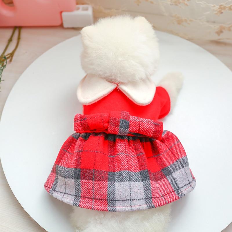 娃娃领呢子裙_7719