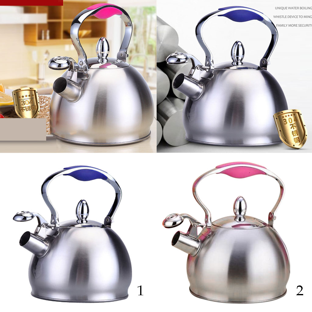 Tea Kettle Whistling Tea Kettle Teapot Design, Quick Boiling, Rust Resistant, Stainless Steel Whistle Stove Top Pot, 2.5L