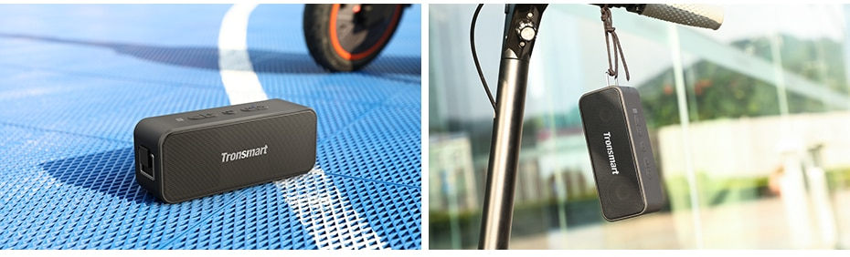 Tronsmart T2 Plus Bluetooth 5.0 Speaker 20W Portable Speaker 24H Column IPX7 Soundbar with NFC, TWS,Voice Assistant,Micro SD (12)