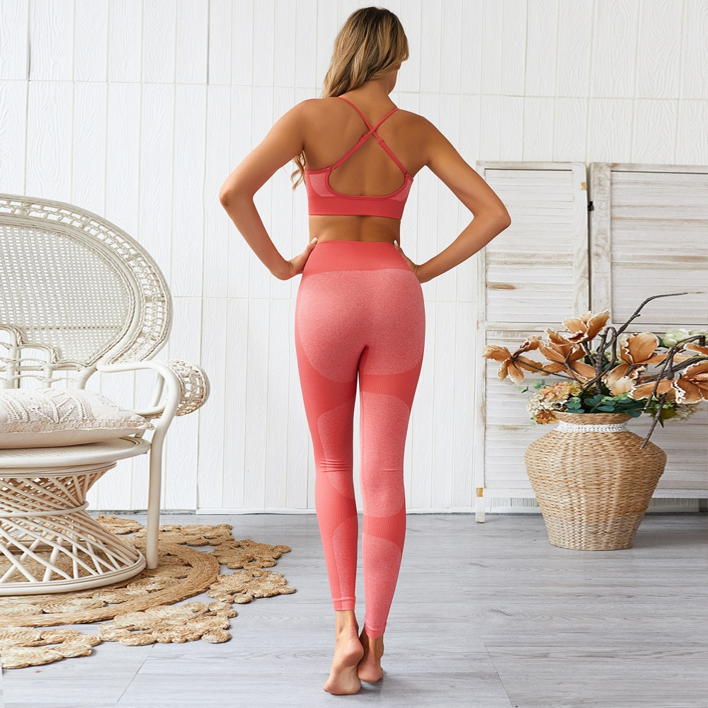 Workout Sets 2 Piece Seamless Slim Fit Yoga Leggings with Sports Bra Clothes Set JOMOBabe Online Store | Women Workout Clothes & Gym Gear | JOMOBabe