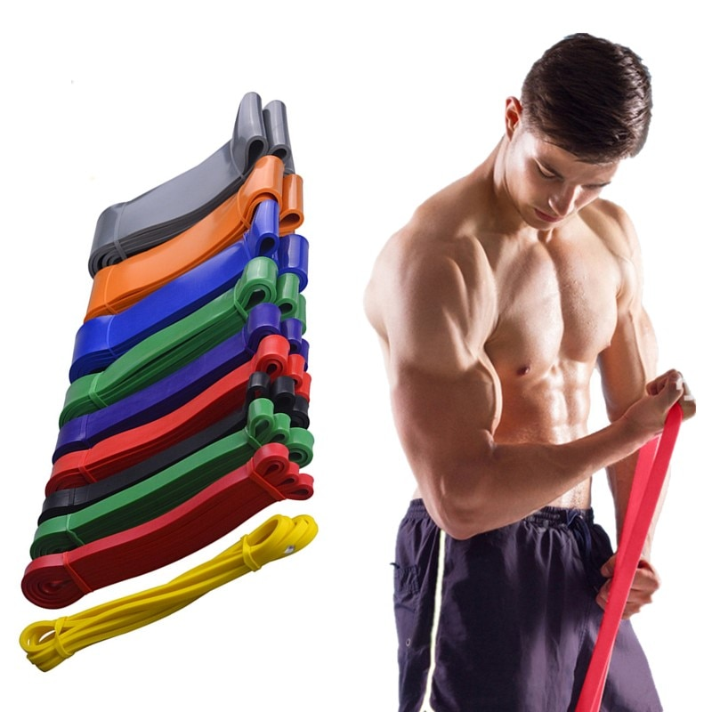 Unisex Fitness Resistance Bands 208cm Latex Sports