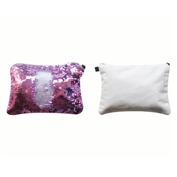 亮片化妆包-粉紫色2