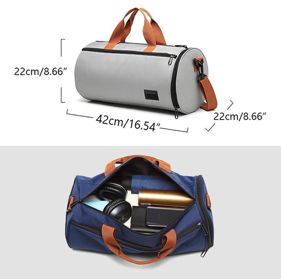Outdoor Sports Gym Bag Multifunction Training Fitness Shoulder Bag With Shoes Pocket Travel Yoga Handbag Dry wet Swimming Bag0112