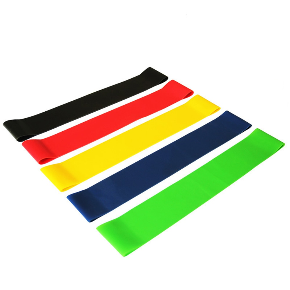 Yoga Resistance Bands 5 Colors Resistance Loop Stretching Pilates Fitness Equipment Gym Home Sport Training Workout (5lb- 25lb) (17)