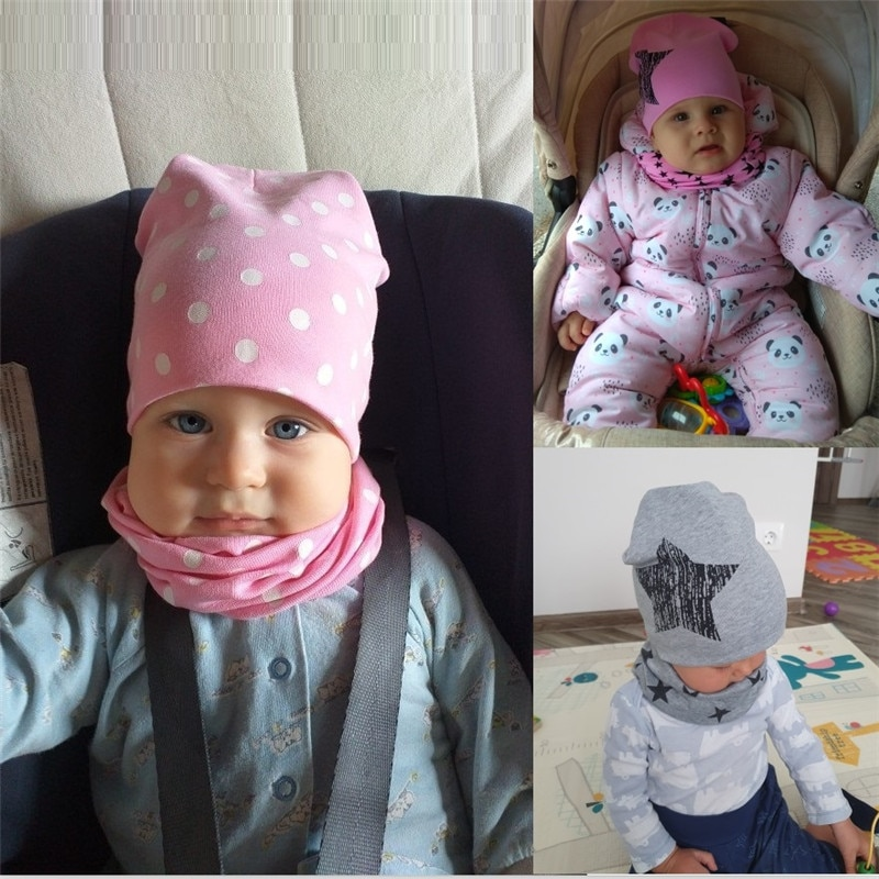 baby hat and scarf girls boys cap