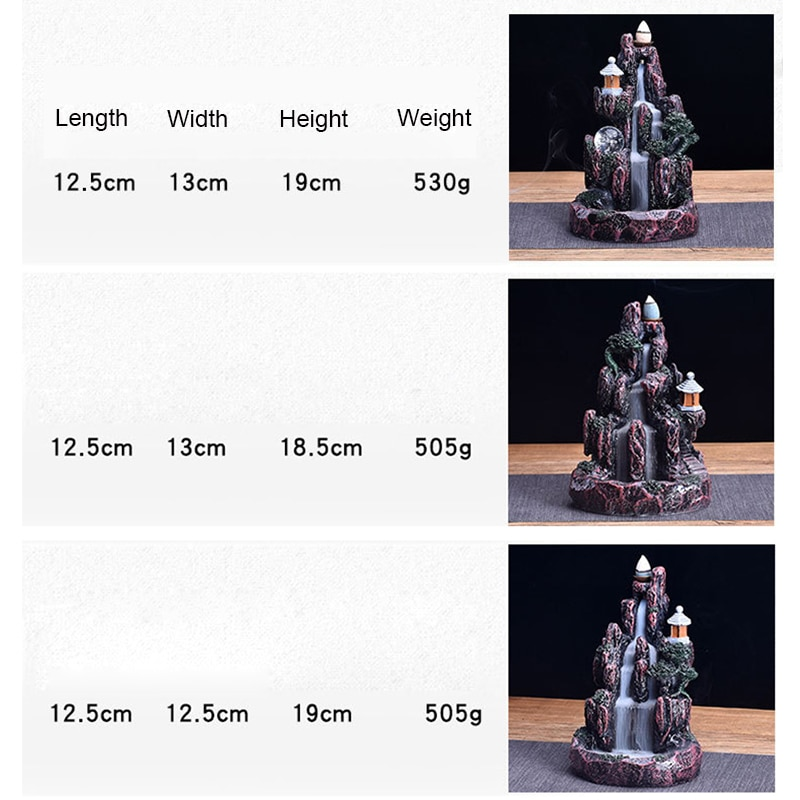 High-Mountain-Waterfall-Backflow-Incense-Burner-LED-Glowing-Ball-And-20Pcs-Incense-Cones-Home-Incense-Holder